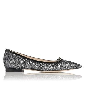 L. K. BENNETT 'Holly'  Glitter Ballet Flats